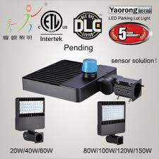 parking lot lighting manufacturers yr pl345 w150 x china yaorong 150w led parking lot lighting etl
