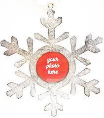 maker s handmade snowflake picture frame ornament