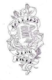 talk less sing more sketch by nevermore ink on deviantart