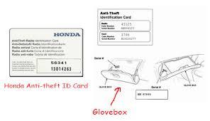 how to retrieve radio code for honda accord honda radio code honda crv radio code