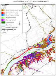 Pa County Map Sea Level Rise Planning Maps Likelihood Of Shore Protection In