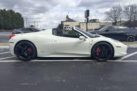Ferrari 458 Italia White - ag luxury wheels ferrari 458 italia forged wheels