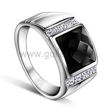 mens silver wedding bands mens onyx silver wedding ring with custom engraving personalized