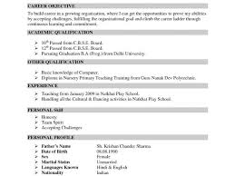 Best It Resume Format It Resume Formats It Resume Format For Freshers Bsc It Resume