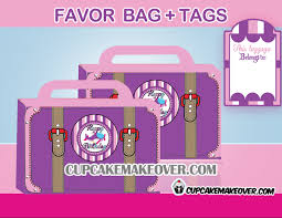 pink favor bags pink airplane party package instant cupcakemakeover