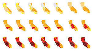 california drought map january 2016 progressive drought maps show just how thirsty california has