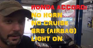 2004 honda accord airbag honda accord no horn no cruise air bag light on