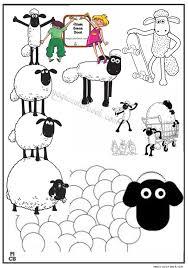magic shaun sheep printable coloring
