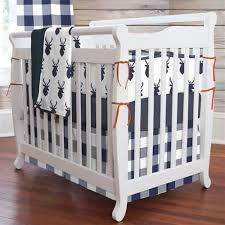 What Is A Mini Crib Navy Deer Woodland 3 Mini Crib Bedding Set Carousel Designs