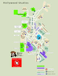 Universal Studios Hollywood Map April 2016 Disneys Hollywood Studios Guide Map With Backlot Area