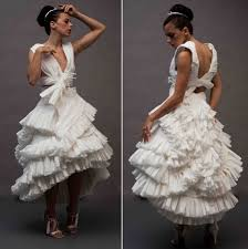 paper wedding dress a toilet paper wedding dress things