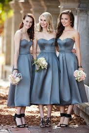 runway to wedding day midi length bridesmaid dresses pretty