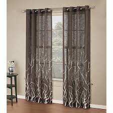 Curtains With Trees On Them Alton Print Grommet Window Curtain Panel Bed Bath Beyond