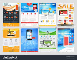 set vector business flyer design templates stock vector 432028810