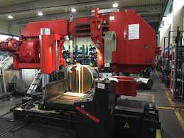 used horizontal bandsaw machinery cutting steel section industrial