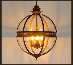 Glass Orb Pendant Light Dsq Mediterranean American Rural Glass Orb Pendant Light In