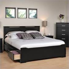 prepac sonoma black bedroom set storage beds and black wood