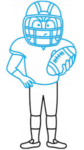 how to draw an american football player a sportsman easy step by