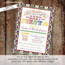 fiesta baby shower invitation gender reveal coed couples