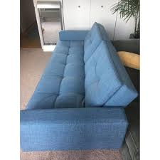 battaglia u0027s home blue futon aptdeco