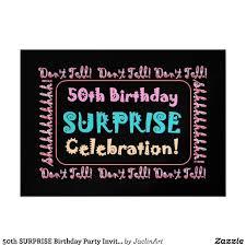 surprise 50th birthday invitations wording drevio invitations design