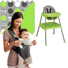 Evenflo Fold High Chair by Evenflo High Chair Soft Carrier Bundle Dottie Lime Free