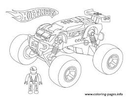 wheels monster truck coloring pages printable