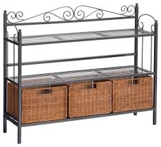 Large Bakers Rack Bakers Rack With Cutting Board Nucleus Home