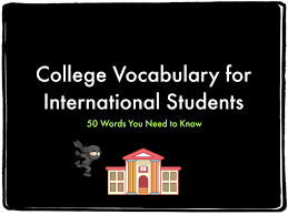 vocab study guide biology college vocabulary for international students word list included