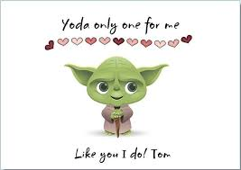 yoda valentines card 26 best wars cards images on birthday cards