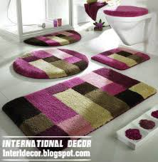 Designer Bathroom Rugs Modern Bathroom Rugs Leandrocortese Info
