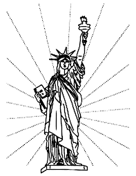 independence day in statue of liberty coloring page download