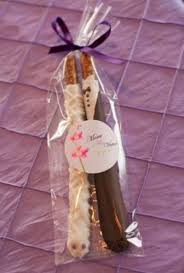 affordable wedding favors and groom chocolate covered pretzel rods wedding favors