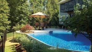 Pool Garden Ideas by Radiant Semi Inground Pools Pool Pinterest Semi Inground
