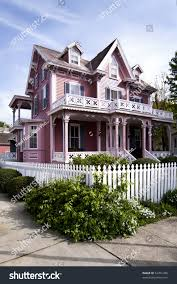 House With Porch by Beautiful Pink Victorian House Porch Balcony Stock Photo 52451386