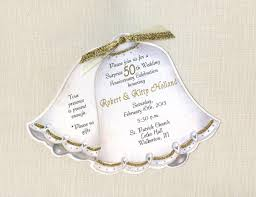Marriage Anniversary Invitation Card 45 Personalized And Handcut Party Invitations 50th Wedding
