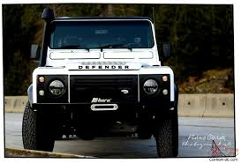 white land rover rover defender 130