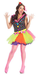 cute clown costume dress skirt polka dot women plus size 1