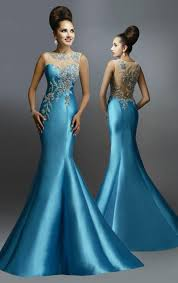 new arrival 2015 mermaid evening dresses with beads crystal sheer