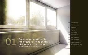 creating atmosphere in architectural renderings adobe photoshop