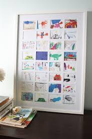 art collage framing children u0027s art work takes a bit work but