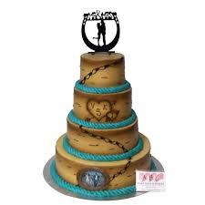 western wedding cakes 2110 4 tier western wedding day abc cake shop bakery