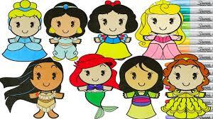 disney princess coloring book compilation cinderella belle ariel