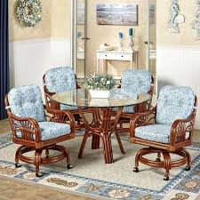 kitchen table and chairs with casters dining table with caster chairs kitchen chairs with rollers oak