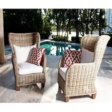 2 Chair Patio Set by Kubu Wicker Set Of 2 Natural Kubu Rattan King Chairs Set Of 2