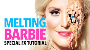 melting barbie halloween makeup tutorial youtube