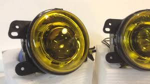 light yellow jeep jeep wrangker jk projector fog lights hid with custom yellow
