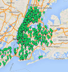 map of nyc this map charts all of new york city s bathrooms