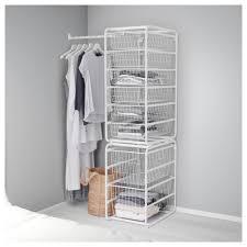 algot frame wire baskets rod white