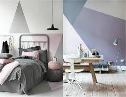 le bureau fille peinture décorative dessin géométrique sublimez les murs